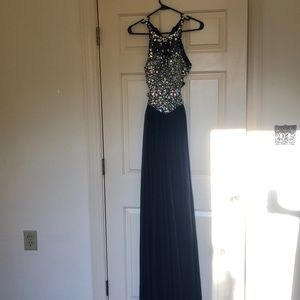 Long Navy Prom Dress